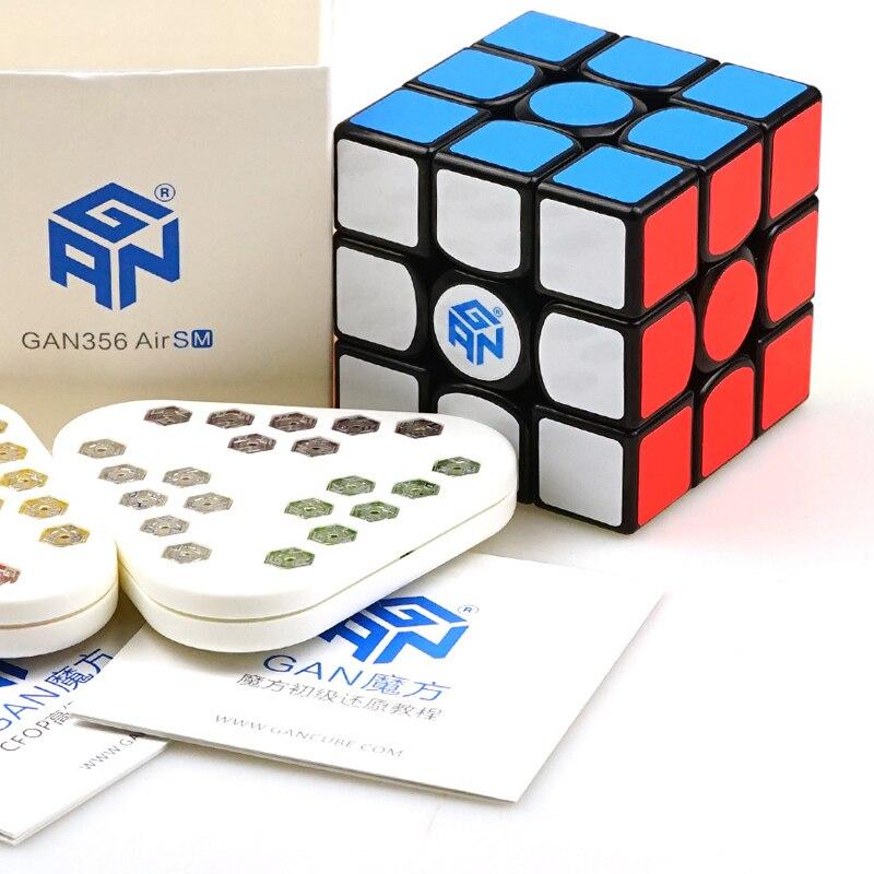 Nouveauté GAN 356AIR M magnétique Puzzle cube professionnel lisse magique Cube Gans 3x3x3 vitesse Cube torsion jouets éducatifs - 6