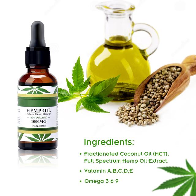 Natural Hemp Seed Oil 30ml Hemp Oil Organic Pure Essential Oil for Relieve Stress Body Skin Care