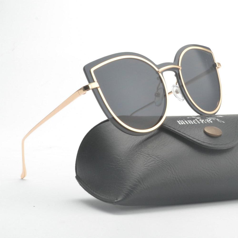 MINCL 2019 Women Rimless Cat Sunglasses Luxury Brand