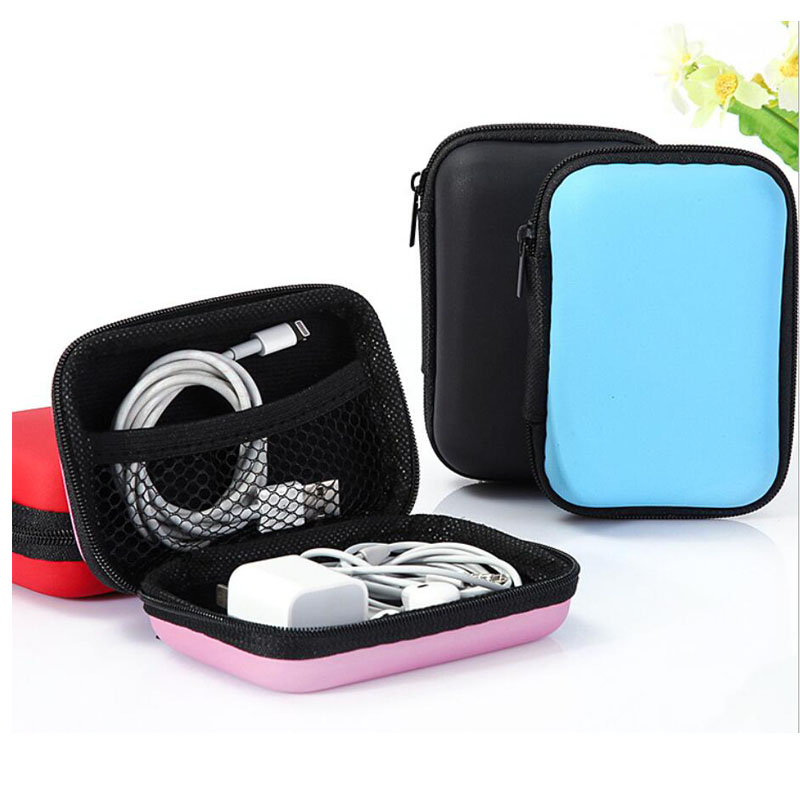 For Headphone Earphone Earbuds Pouch Storage Bag Hard Case Coin Bag Wallet