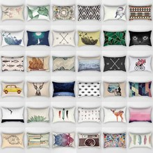 Hot sale many styles mixture  pattern rectangle pretty men women pillow case home cover 50*30cm