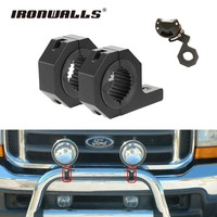 Ironwalls 1 4 2 Car LED Work Light Bar Bracket Mounting Bull Bar Clamps Roof Roll