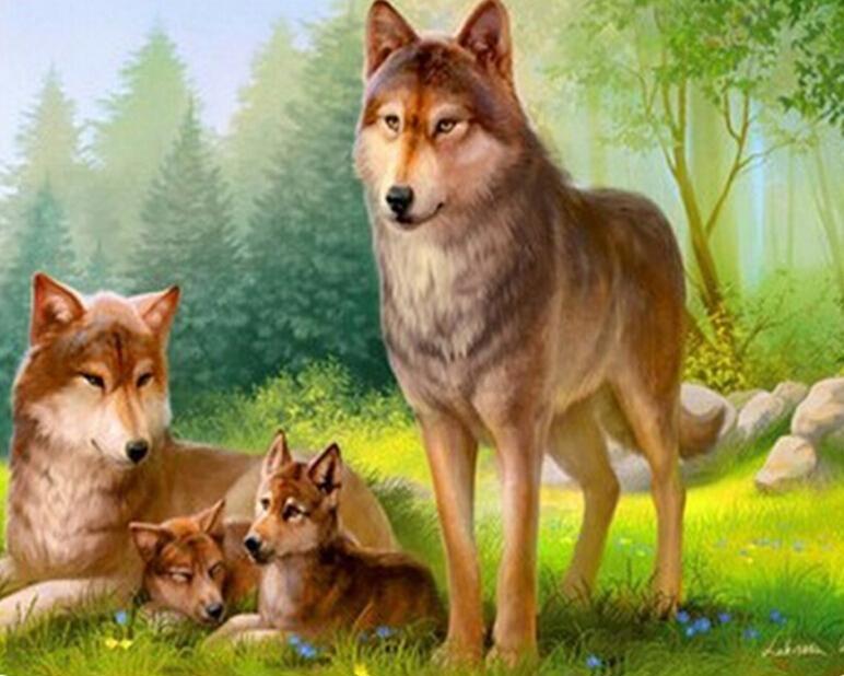 Семьи зверей картинки для детей