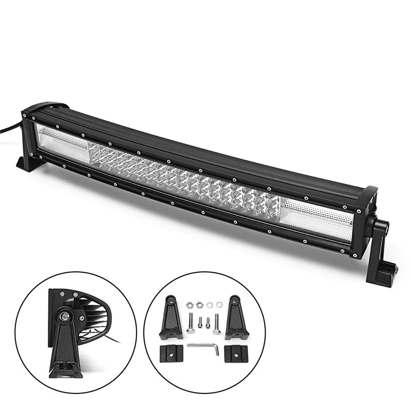 108W 22 Inch 10D LED Work Light Bar Off Road Driving Lamp Waterproof Super Slim Spot Flood Combo LED Work Light For SUV ATV 17 inch 108w led light bar spot flood combo light led work light bar off road truck tractor suv 4x4 led car light 12v 24v