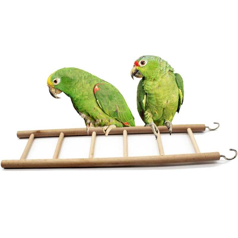 Birds Toy Natural Wooden Ladders Hanging Swing Scratcher Perch Pet Climbing Toy