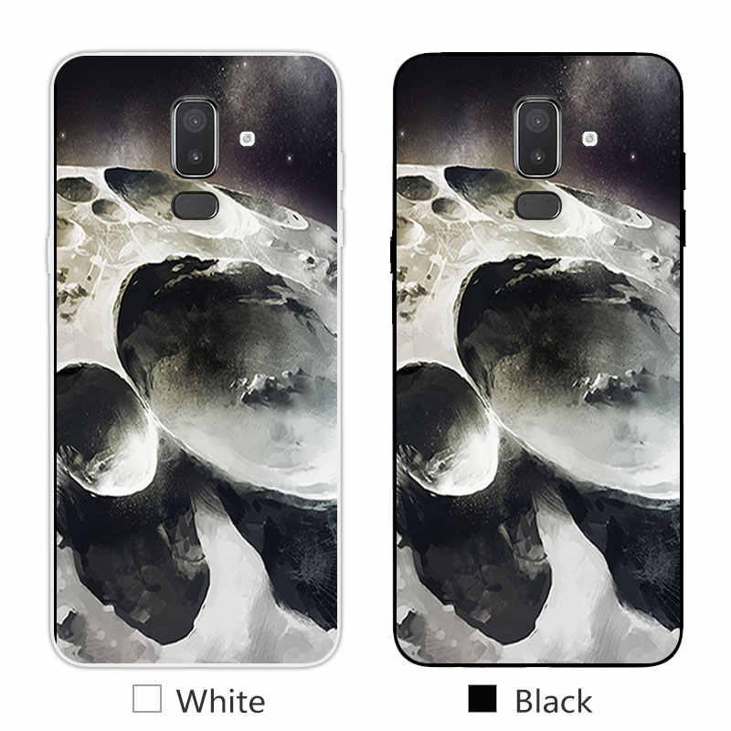 For Samsung Galaxy J8 2018 Soft Silicon Phone Back Case Cover Letter Design For Samsung J8 2018 EU Eurasian Version Fundas