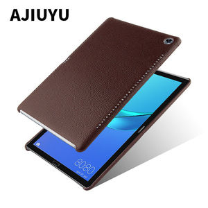 Image 1 - Case Cowhide For Huawei MediaPad M5 10.8 inch Protective Cover Shell Genuine Leather Mediapad m5 10 Pro 10.8 Tablet PC back case