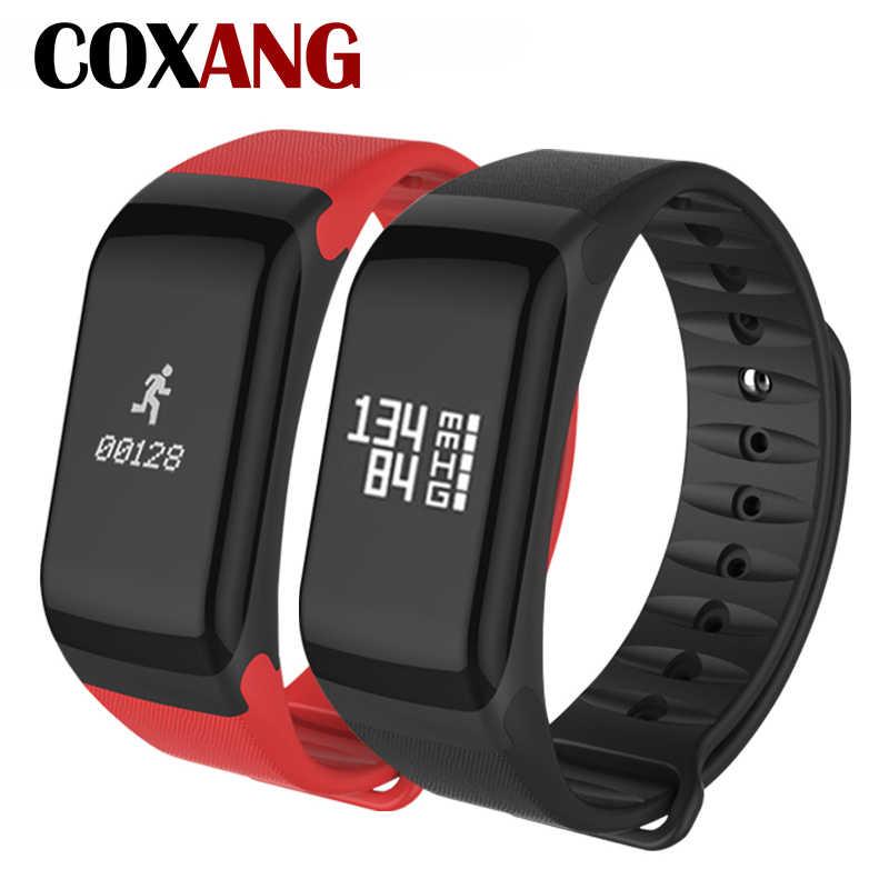 COXANG F1 Smart Bracelet Heart Rate Monitor Blood Pressure Wearfit