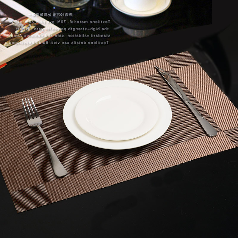 Pvc Waterproof Thermal Protection Insulating Heat Insulation Mat Kitchen Accessories Table Cup Mat Placemats For Table