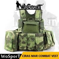 WOSPORT Ciras Мар Militaria армии боевой жилет Molle открытый Тактическая Охота Airsoft CS Камуфляжный жилет боевой подготовки форма