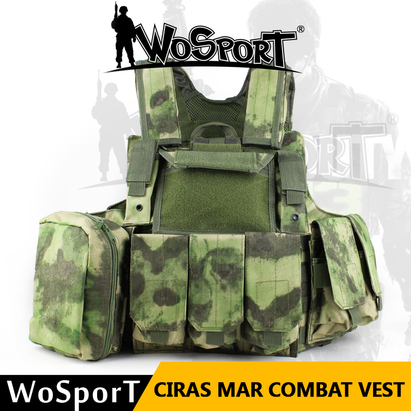 WOSPORT Ciras Mar Militaria Army Combat Molle Vest Outdoor Tactical Hunting Airsoft CS Camouflage Vest Training Combat Uniform man cs training outdoor camouflage uniform combat bdu suit tactical army jacket hunting multi pocket trouser wear resisting s20n