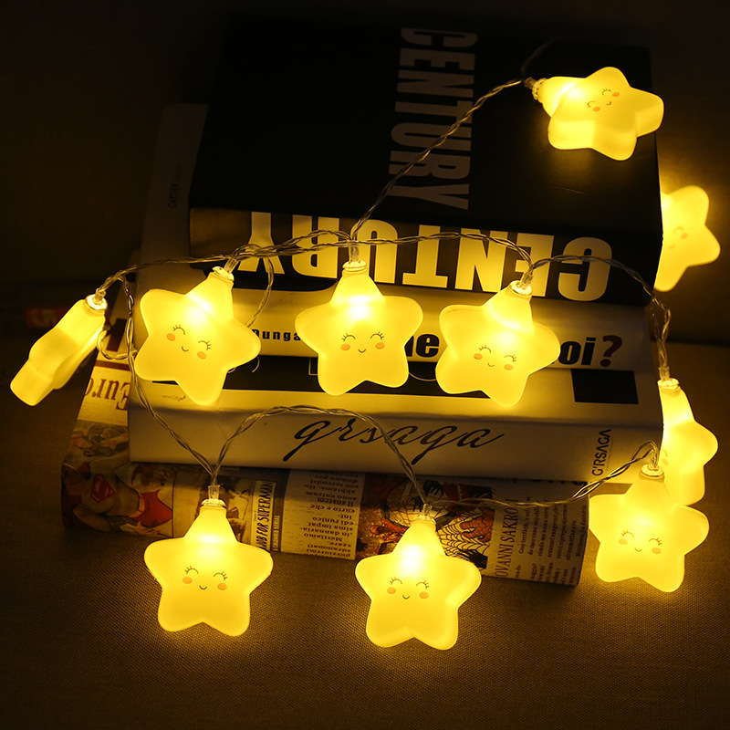 FENGLAIYI Battery LED Cute Star 3/1.5M 20/10Leds Night Light Festival Atmosphere Wedding Party Garden Bedroom Light String