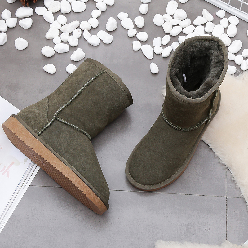 100% real cowhide leather suede women winter snow boots for women sheep fur lined winter shoes high quality 11 colors size 35-44 habuckn genuine leather suede winter snow boots for women real sheep fur wool lined winter shoes high quality brown black