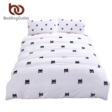 BeddingOutlet Batman Bedding Set Plain Printed Bed Cover Stylish Soft Qualified Bedclothes Multi Sizes 3pcs