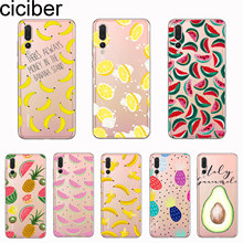 ciciber Cover For Huawei P30 P20 P10 P9 P8 Lite Pro Plus 2017 P smart 2019 Phone Cases Soft TPU Fruit Banana Lemon Fundas Coque(China)