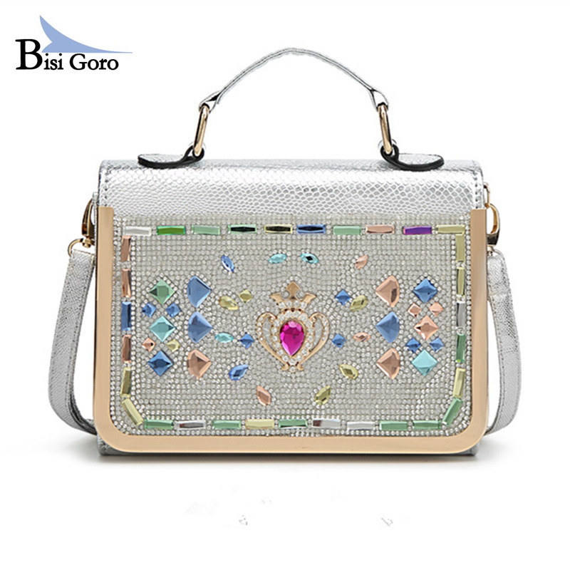 Fashion Diamonds Women Bag rhinestone Crystal Ladies Evening Bag Bride Tote Bag 2017 Women Wedding Handbag Brand Designer
