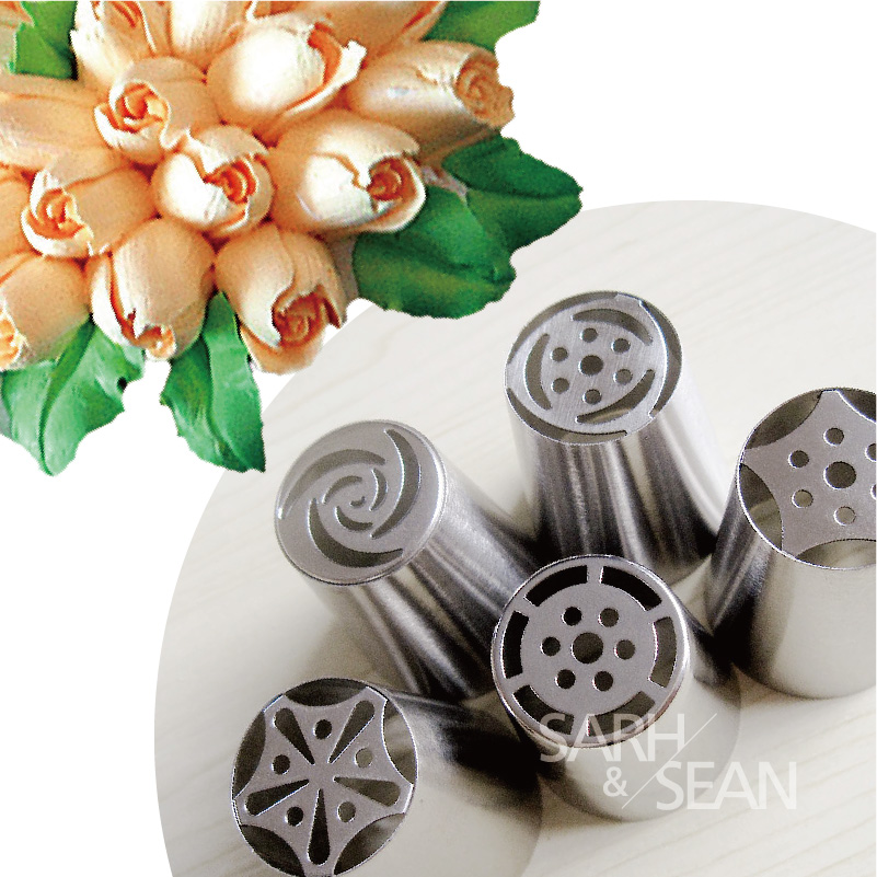5pcs Lot Metal Stainless Steel Cutters Professional Cake Decorators Russian Pastry Nozzles Piping Tips For The Kitchen Baking