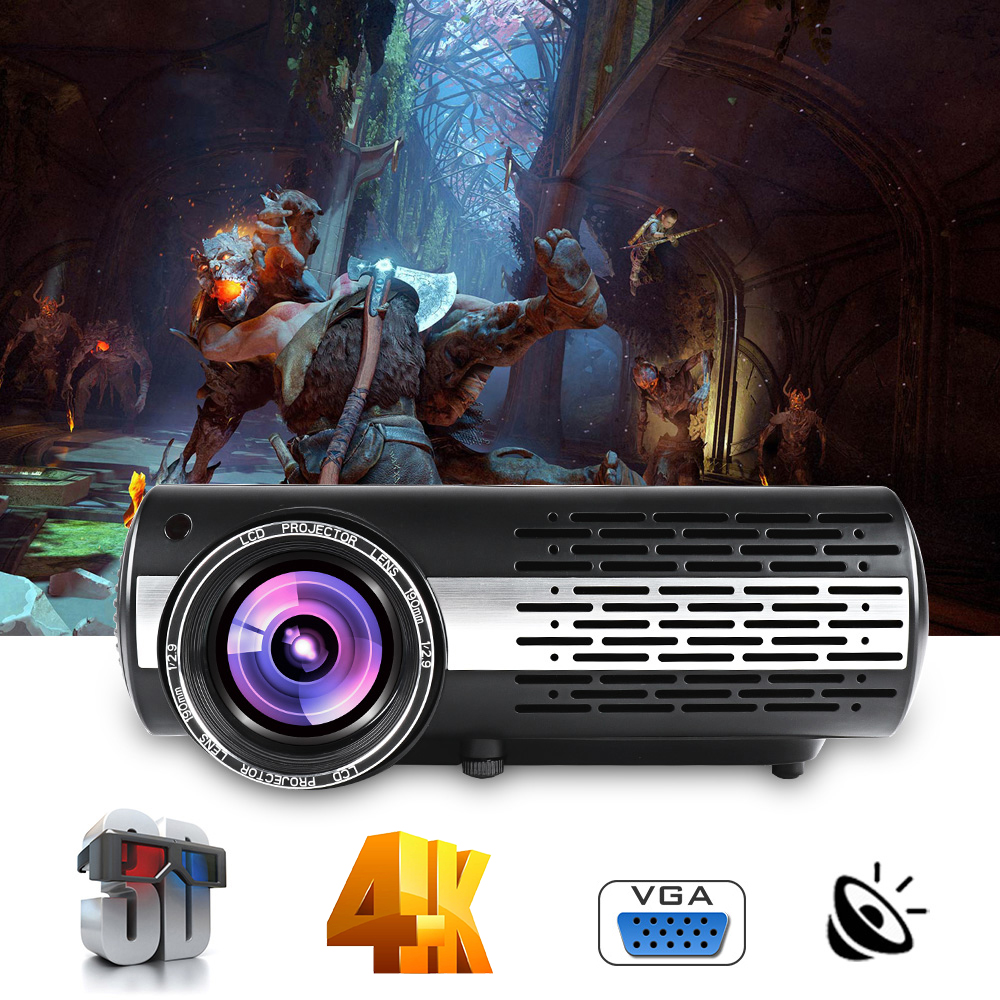 Image 2 - Poner Saund M2 LED 4K 2K 1080P FULL HD projector 6500 Lumens 3D Home Theatre Android 6.0 Bluetooth 5G WIFI HDMI USB AV Vs led 86LCD Projectors   -
