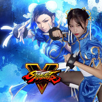 Customize Game Street Fighter Chun Li Cosplay Costume Dress 4 Colors Blue Red Pink Black Blue Dress Clothing Set Halloween