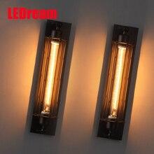 Лофт Старинные Бра Американской Industria Эдисон Свет 40 Вт E27 Прикроватные Тумбочки, Настенные Светильники Украшения Дома огни