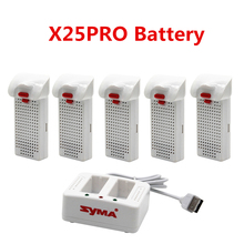 NEW Original Syma X25pro X25W drone battery with Charger RC Quadcopter Spare Parts