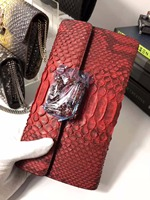100% Genuine/Real python skin leather long big size women wallets and purse, snake leather evening clutch purse