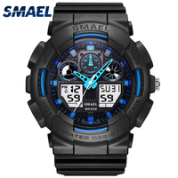 SMAEL Brand Luxury LED Digital Date Military Sport Watches Men S Quartz Analog Led Digital Wristwatch