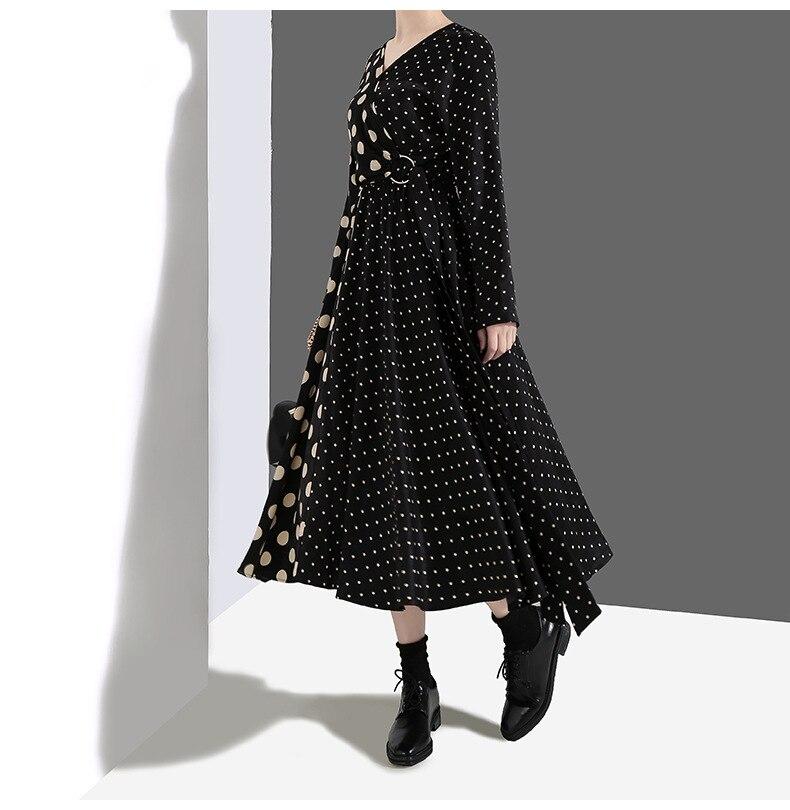 Freies ausschnitt Regelmäßige Polka Up Verkauf Verschiffen Selling Mujer 2019 Direct Vestidos Ukraine Frauen Heißer V Stil Europäischen Kleid vYy6b7fg