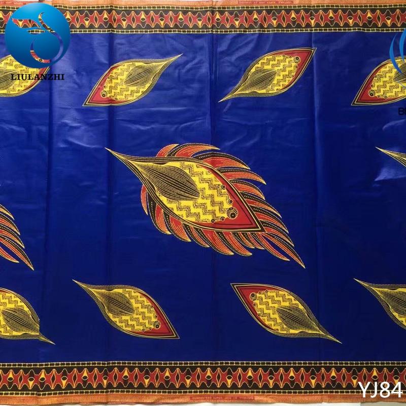 LIULANZHI Royal blue african cotton wax fabric Java wax fabric High quality ankara real wax pints fabric for dress YJ84-YJ105