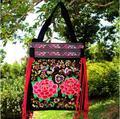 Envío gratis! tendencia nacional mujeres de bolso agradable de la bolsa grande de época de cuentas de madera ocasional bordado bordado solo bolso de hombro