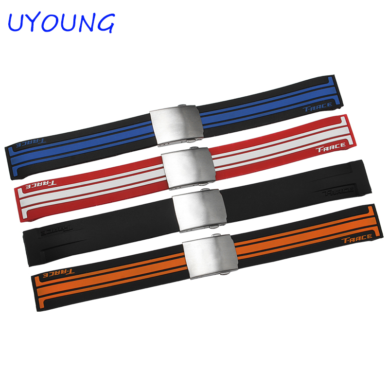 Quality Silicone Watchband 21mm Soft waterproof Replacement Silicone Watch bands For T048