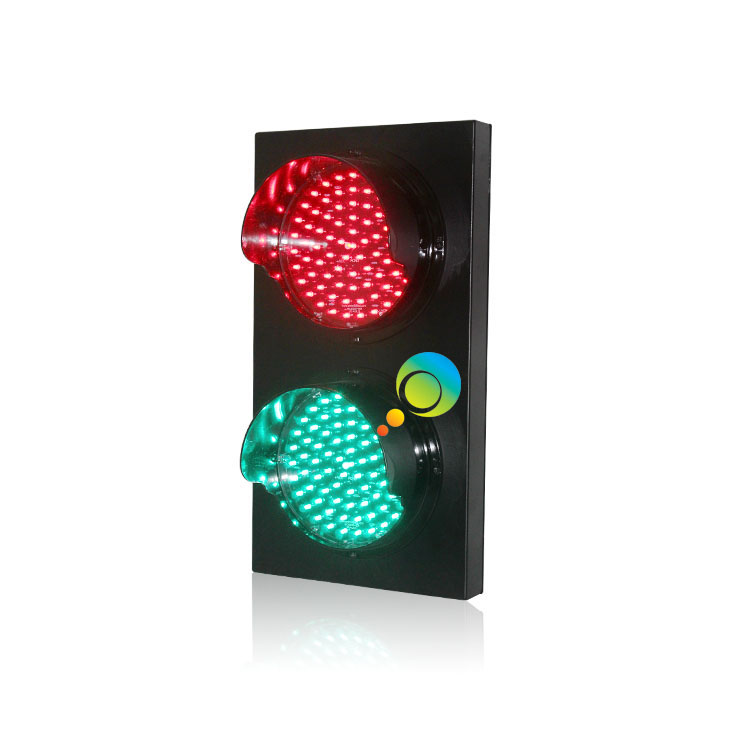 Aluminum Housing 200mm /8 Inch Red Green Full Ball Parking Lots LED Traffic Signal Light