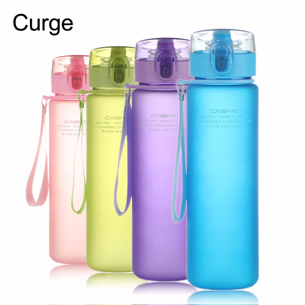 CURGE Flip Top Lid Direct Drinking Plastic water bottle 400ml 560ml #1107 eyki h5018 high quality leak proof bottle w filter strap gray 400ml