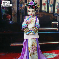 Original Handmade Chinese Ancient Doll Qing Dynasty Beauty 12 Jointed Doll 1 6 Bjd Dolls Toy