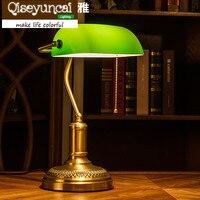 Qiseyuncai 2018 Yeni Retro masa tüm bakır masa lambası endüstriyel rüzgar masa göz okuma lambası.