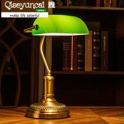 Qiseyuncai 2018 nowy biurkowy w stylu Retro wszystko miedzi biurko lampy przemysłowe wiatr biurko lampy do czytania oko.