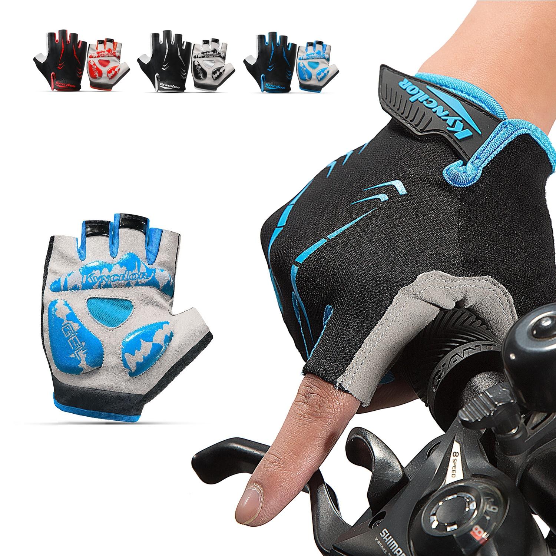 Cycling Bike Half Finger Gloves Shockproof Breathable MTB Road Bicycle Gloves Men Women Sports Cycling Luvas Bike Equipmen