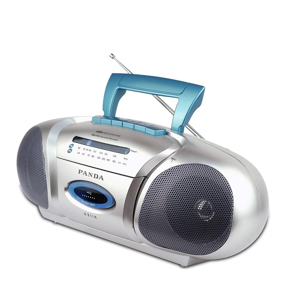 PANDA 6311E Recorder kleine dubbele hoorn leren onderwijs triple play tape opname Radio-in Radio van Consumentenelektronica op  Groep 1