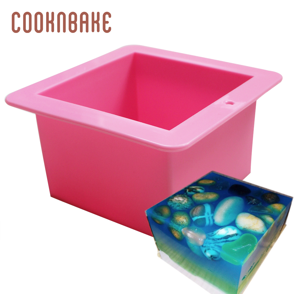 Silicone Soap Mold 500ml Cake Toast Bread Mould Large Cube Square Soap Candle Mould Cake Baking Tool For Cooking DIY Birthday