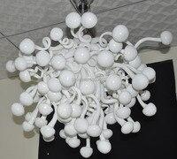 Mushroom Shape Hand Blown Art Glass Ball Chandelier Lighting