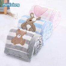 תינוק שמיכת יילוד Bebes החתלה לעטוף חמוד קריקטורה פעוט תינוק עגלת מצעים שמיכות רך פלנל ילדי שמיכת 100*75cm