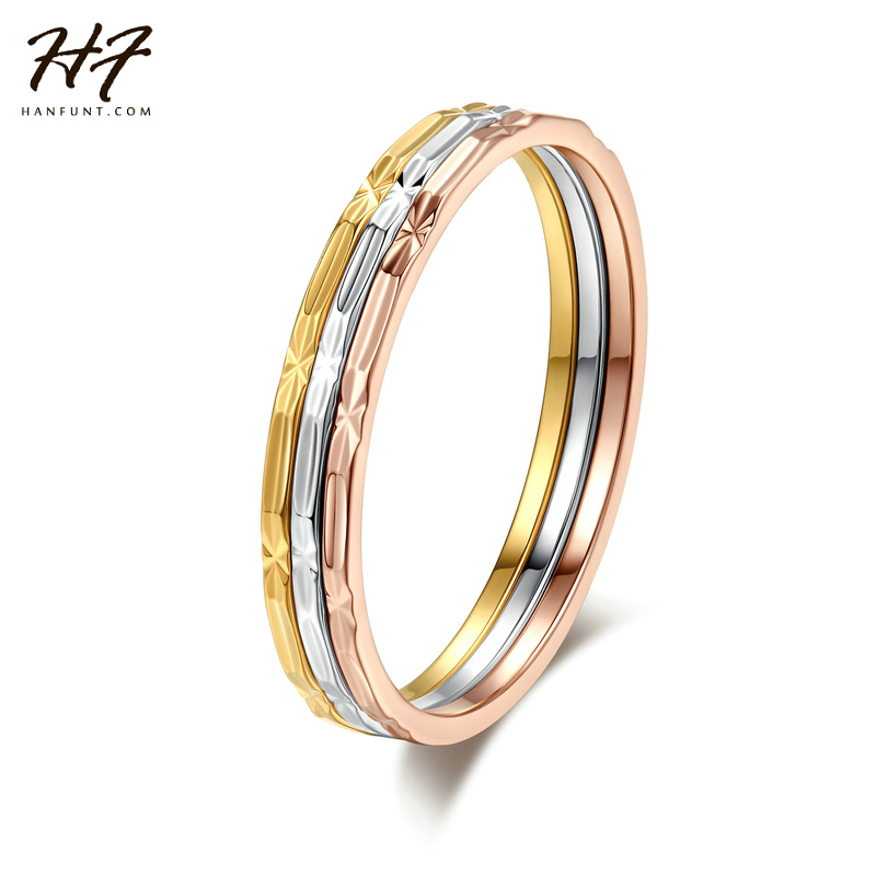 Hot Sale Three Colors Round Rings Fashion Jewelry Ring set For Women Full Sizes Wholesale R029