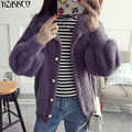 YiZiKKCO Brand Women Cardigan Sweater 2017 Fashion Spring Autumn Knitted V-Neck Cardigans Solid Pull Femme Jersey Mujer SZQ128