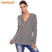 SanHuaZ Brand 2017 Winter Autumn Women S Sweaters Casual Hooded Long Sleeve Loose Solid Women Pullovers