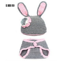 Free Shipping Newborn Baby Photography Props Cartoon Design Hat Set Handmade Crochet Knitted Beanie Cap