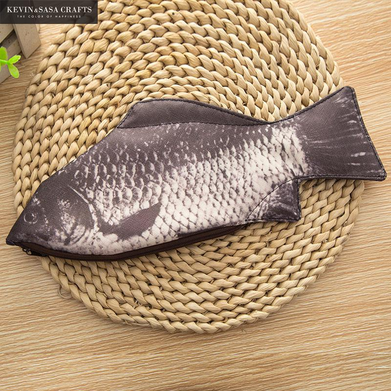 Fish Big Pencil Case PU 30*13cm Quality School Supplies Stationery Gift School Cute Pencil Box Pencilcase Fashin Pencil Bag