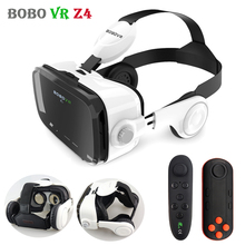 Original BOBOVR Z4 VR Glasses Leather 3D Cardboard Helmet Virtual Reality VR Headset Stereo Headphone  for 4-6′ Mobile Phone