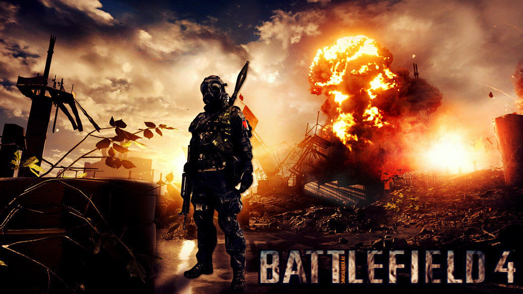 "Battlefield 1 2 <font><b>3</b></font> <font><b>4</b></font> Game Fabric poster 43"" <font><b>x</b></font> <font><b>24</b></font>"" Decor <font><b>23</b></font>"
