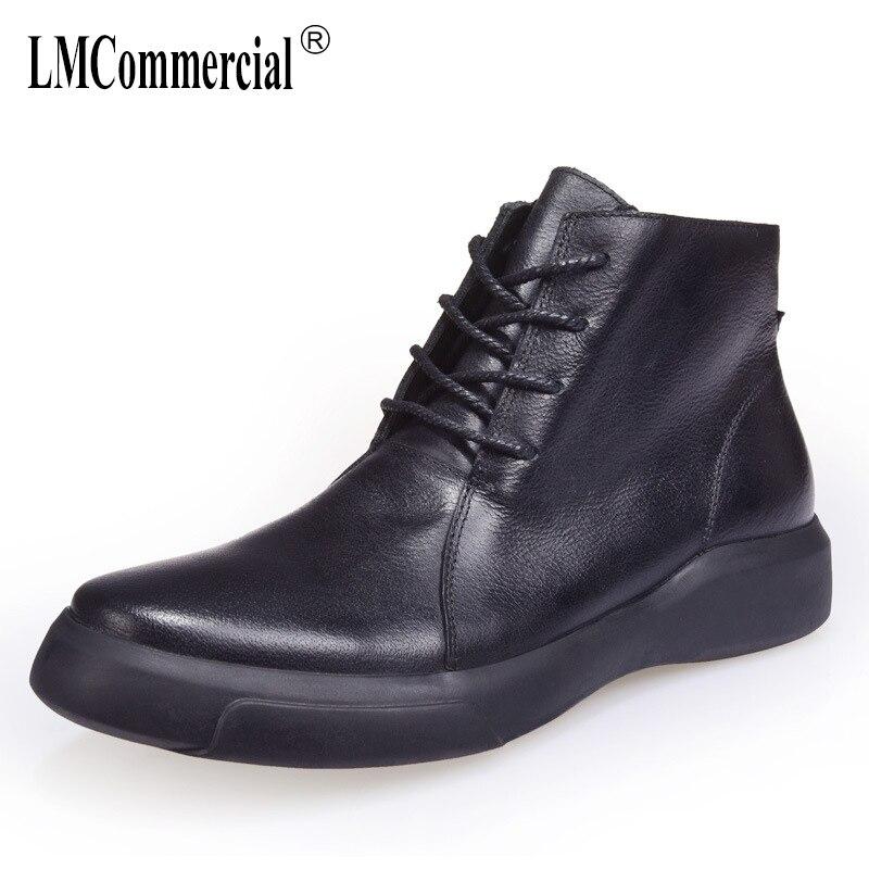 Hombres Negro Cuero dark Casual Calidad Brown Martin Nuevo Británico Los Alta Retro Zurriago Invierno Real Botas Zapatos De Militares Otoño rqTwg1r