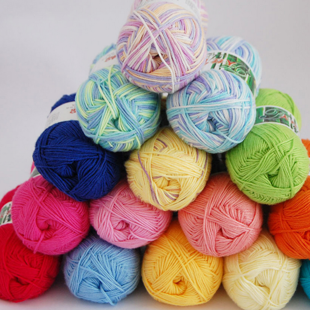 Hand Knitting Yarns : New g ball soft bamboo crochet cotton knitted yarn for